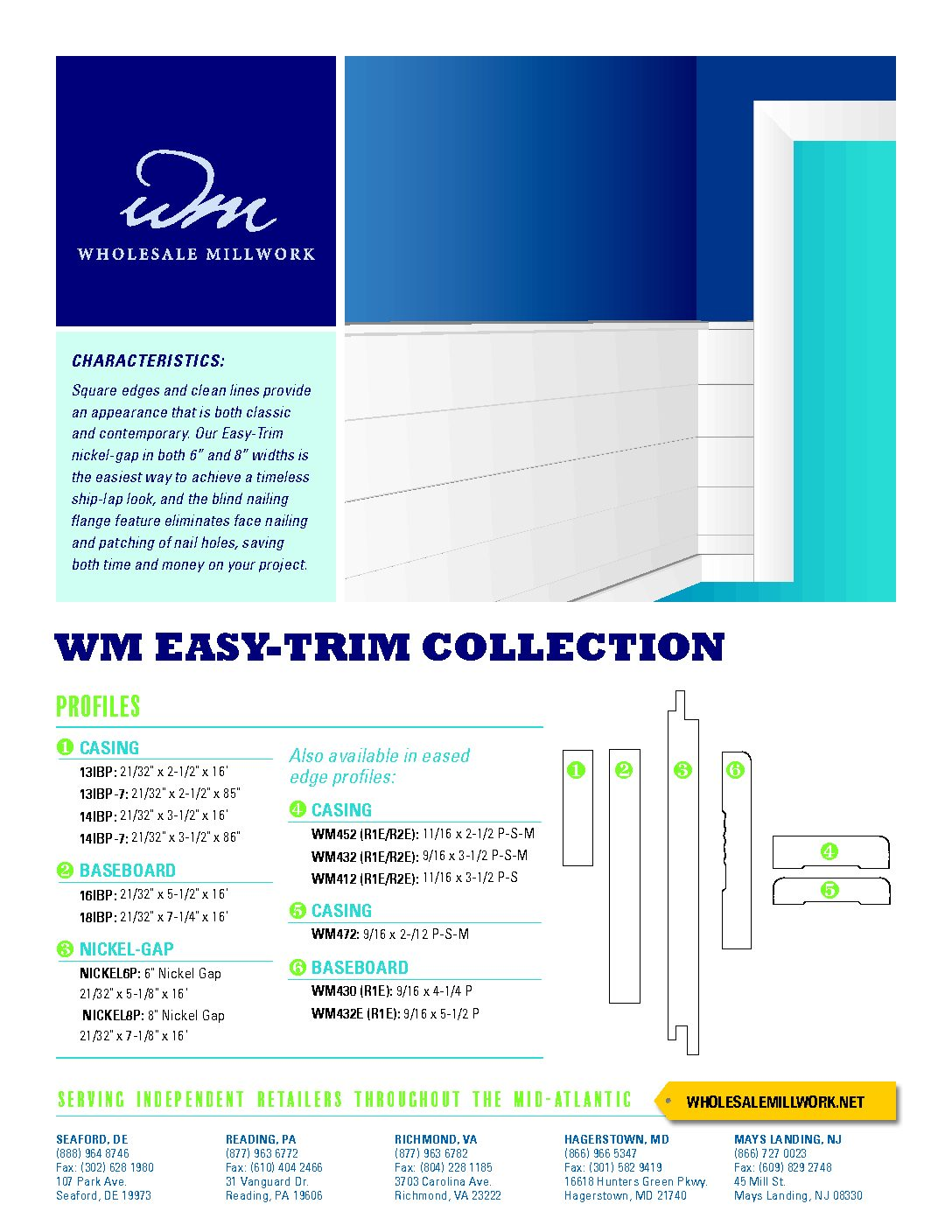 Introducing the WM Easy-Trim and Contemporary Moulding Collections!